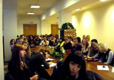 Студенты экономического факультета на презентации ОАО «Белагропромбанк»