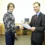 Награждение Власенко Антона